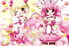 Glitter force: Glitter lucky (Emily) and glitter peace (Lily)