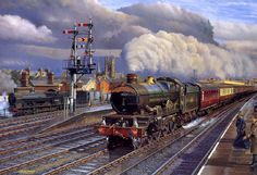 Thornbury Castle built 1949 and sold in Little preservation was done, changed hands is to be restored. Train Drawing, Steam Art, Railroad History, Rail Transport, Holland, Steam Railway, Train Times, Train Art, Train Pictures