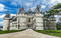 In the park of Chaumont castle. Loire valley, France