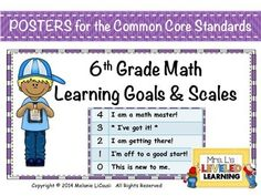 FREE Math Assessment for 6th Grade Common Core Math standards 6RP ...