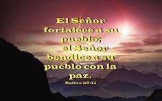 Biblia, paisajes y maravillas: Salmo 29:11
