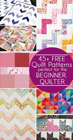 45 Free Easy Quilt Patterns – Perfect for Beginners #sewing #quilting #freequiltpatterns #quiltingforbeginners #easyquilts
