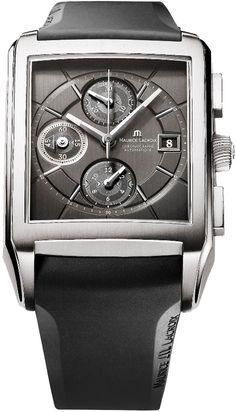 Maurice Lacroix Pontos Rectangulaire Chronograph Men's Watch Model: PT6197-TT003-331