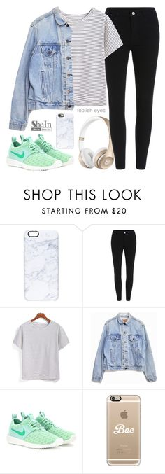 """""""Eyes wide open"""" by alexandra-provenzano ❤ liked on Polyvore featuring Casetify, Levi's and NIKE"""