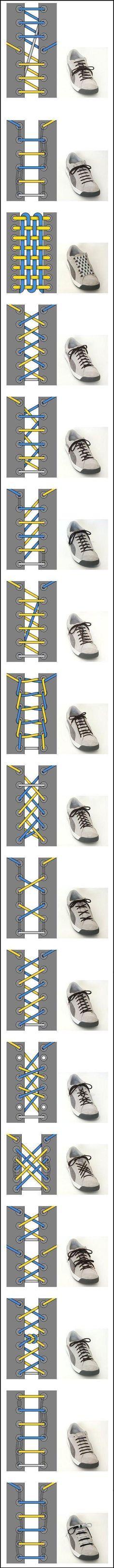 Как завязать шнурки?  Crazy shoelace ideas