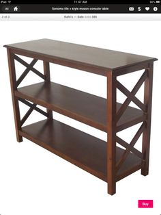 Console/Entryway Table, just needs a few baskets to hide unsightly items like junk mail and bills.