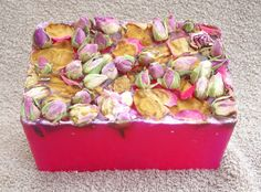 One of my very favorite purchases on Etsy - a lovely treat that reminded me of my garden all winter long! Soap Slice Rose fragrance handmade £2.50