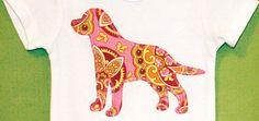 D.I.Y. Craft: Make your own dog-appliquéd baby romper