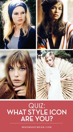 Quiz time! Find out what style icon you're most like