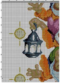 гноми 2_7 Cross Stitch Fairy, Cross Stitch Charts, Cross Stitch Patterns, Cross Stitching, Cross Stitch Embroidery, Iris Folding Pattern, Stitch Cartoon, Snow White, Cartoons