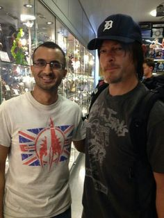 Reedus was @ The forbidden planet in London. 7/4/13