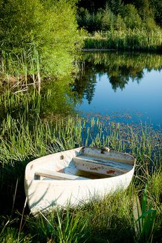 Boat and Pond by Jim Larson on Getty Images