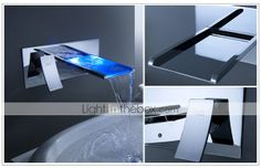LED Waterfall Bathroom Sink Faucet - IcreativeD - But I Want It !!!