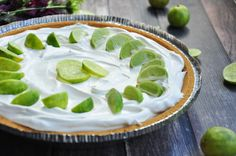 Delicious and tart this pie is very refreshing. Use only juice that specifically says key lime juice. Egg whites can be beaten with sugar and added to top if desired.