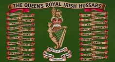 The Queens Royal Irish Hussars Battle Honours Military Flags, Military Units, Medical Assistant Course, British Crown Jewels, Battle Of The Somme, British Army, Troops, Badges, Drums