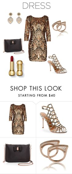 """""""Party Dress perfect for my petite frame"""" by donnala73 ❤ liked on Polyvore featuring Schutz, Ted Baker and Miguel Ases"""