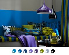 Color Scheme of The Week: Blues, Greens and Purples