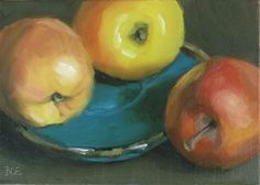 """Apple Fools Day"" - Original Fine Art for Sale - © Karen Boe"
