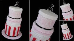 Damask, frills and stripes 13th Birthday cake  Cake by Sugardreams