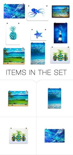 Coastal Decor for the home by MJs Crafted Concepts by maureenlscott on Polyvore featuring art