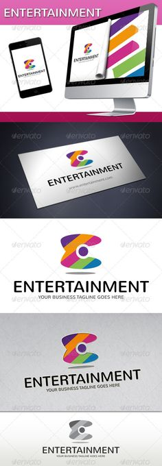 Entertainment Logo by BossTwinsMusic - Two color version: greyscale and single color.- The logo is 100 resizable.- You can change text and colors very easy using the