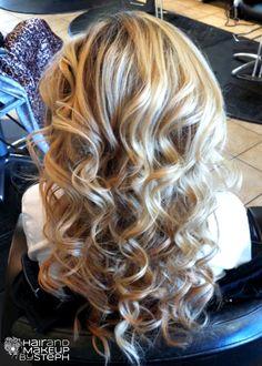 long loose curls; long hair; #wedding #bride #hairstyles