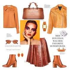 """Colour palette inspiration"" by zabead ❤ liked on Polyvore featuring Marina Moscone, Salvatore Ferragamo, See by Chloé, ROKH, Bottega Veneta, RetroSuperFuture, PINTRILL, Pluma, Meghna Jewels and Tory Burch"