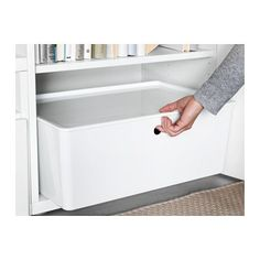 """KUGGIS Box with lid - 14 ½x21 ¼x8 ¼ """" - IKEA. $14.99 Different sizes."""