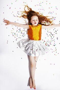 My Little Dress Up SS14 gorgeous saffron sunshine toned silk blouse for girlswear