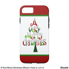 A Very Merry Christmas iPhone 7 Case #iphone7case