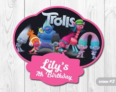 Trolls Centerpiece Trolls Party Decoration Trolls by 9BestInvites