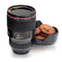 Lens Mug/ズームレンズ マグ&トレイ 一眼レフレンズマグカップ 腕時計とおもしろ雑貨のシンシア【RCP】【楽天市場】