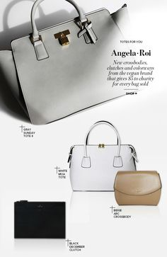 Totes for You: Angela Roi philanthropic vegan bags at Crossbody Bags For Travel, Small Crossbody Purse, Angela Roi, Vegan Fashion, Ethical Fashion, Vegan Purses, Vegan Leather Jacket, Vegan Handbags, Leather Fashion