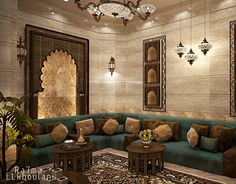 Interior Design Moroccan Sitting Room , In Saudi Arabia ,auto-desk images ideas from Home Inteior Ideas Moroccan Decor Living Room, Morrocan Decor, Moroccan Room, Modern Room Decor, Moroccan Interiors, Modern Bedroom, Living Room Decor, Morrocan House, Master Bedroom