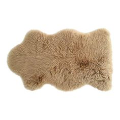 "Image of Tan Sheepskin Rug- 2'4"" x 3'4"""