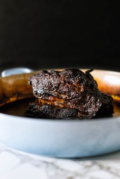 The deep flavors of Oaxacan mole combined with a slow cooked beef neck gives way to an ideal meat for tacos, enchiladas, or whatever your heart desires. Beef Mole Recipe, Potted Beef Recipe, Beef Neck Recipe, Authentic Mexican Recipes, Mexican Food Recipes, Mexican Cooking, Mexican Dishes, Cube Steak Recipes, Bon Appetit