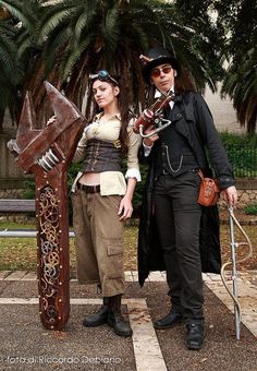 Engineers do it well. Steampunk Mechanic, Style Steampunk, Steampunk Wedding, Steampunk Costume, Steampunk Clothing, Steampunk Fashion, Wild West Era, Steampunk Gadgets, Dress Design Sketches