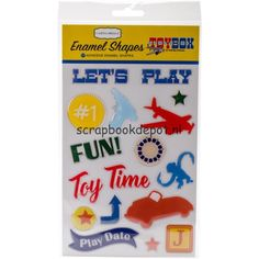 Carta Bella Toy Box - Adhesive Enamel Shapes