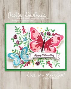 More Mother's Day Card Inspiration for Global Design Project 085 - Number of Years and Letters for You by Stampin' Up! with Watercolor Wings   Handmade Cards   The Way We Stamp   Mother's Day DIY