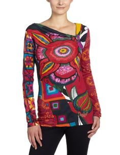 Desigual Jolie Patterned Women's T-Shirt Rosa Primula 8