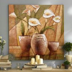 Instead of vase a nice picture of vase Plaster Art, Collage Art Mixed Media, Wall Art Pictures, Mural Art, Oil Painting Abstract, Flower Art, Wall Art Prints, Canvas Art, Decoration