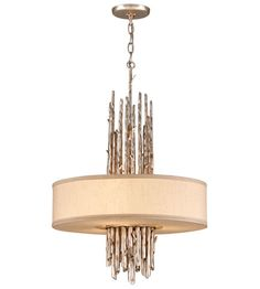 Troy Lighting F2894 Adirondack 3 Light 20 inch Silver Leaf Finish Pendant Dining Ceiling Light in Incandescent