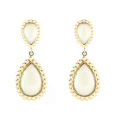 10k Yellow Gold Pear White Chalcedony Textured Drop Earrings Amazon Curated Collection. $92.00. The natural properties and composition of mined gemstones define the unique beauty of each piece. The image may show slight differences to the actual stone in color and texture
