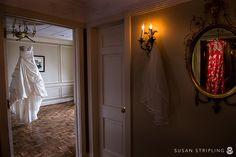 wedding dress at a hotel dupont wedding : voilen + peter