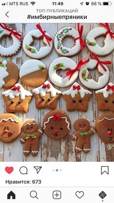56 Ideas Cupcakes Versieren Ideas Royal Icing For 2019 Cute Christmas Cookies, Christmas Biscuits, Iced Cookies, Christmas Sweets, Christmas Gingerbread, Christmas Cooking, Royal Icing Cookies, Christmas Goodies, Holiday Cookies