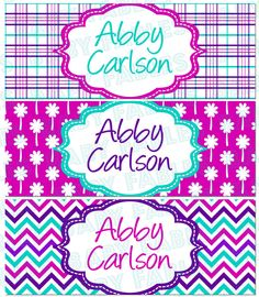 Personalized Waterproof Labels Waterproof Stickers by babyfables, $10.95