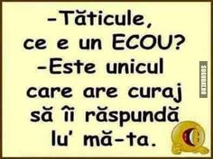 Taticule, ce e un Ecou? Funny Images, Funny Pictures, Funny Pics, Funny Stuff, Best Quotes, Funny Quotes, Good Jokes, Love Memes, Cringe