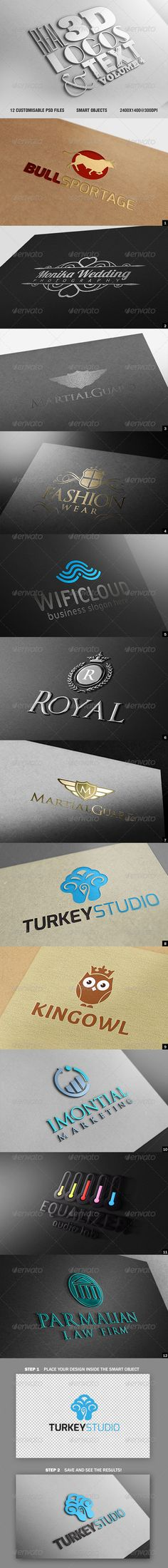 110 best 3d typography images on pinterest 3d typography real 3d logos and text vol4 reheart Choice Image