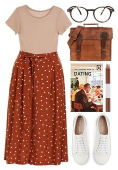 """""""dating school"""" by foundlostme ❤ liked on Polyvore featuring Mint Velvet, Base Range, Faber-Castell, See Concept and midiskirt"""