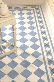 These tiles are to die for! Victorian Floor Tiles - Dorchester pattern in Dover White and Blue with modified Kingsley border Hall Flooring, Bathroom Flooring, Kitchen Flooring, Bathroom Cladding, Flooring Ideas, Loft Flooring, White Flooring, Ceramic Flooring, Farmhouse Flooring